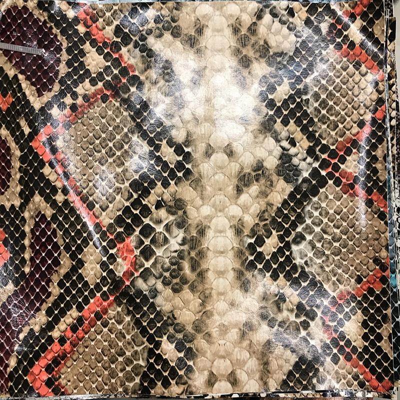The fashionable snake skin printing artificial <strong>leather</strong> for clothes