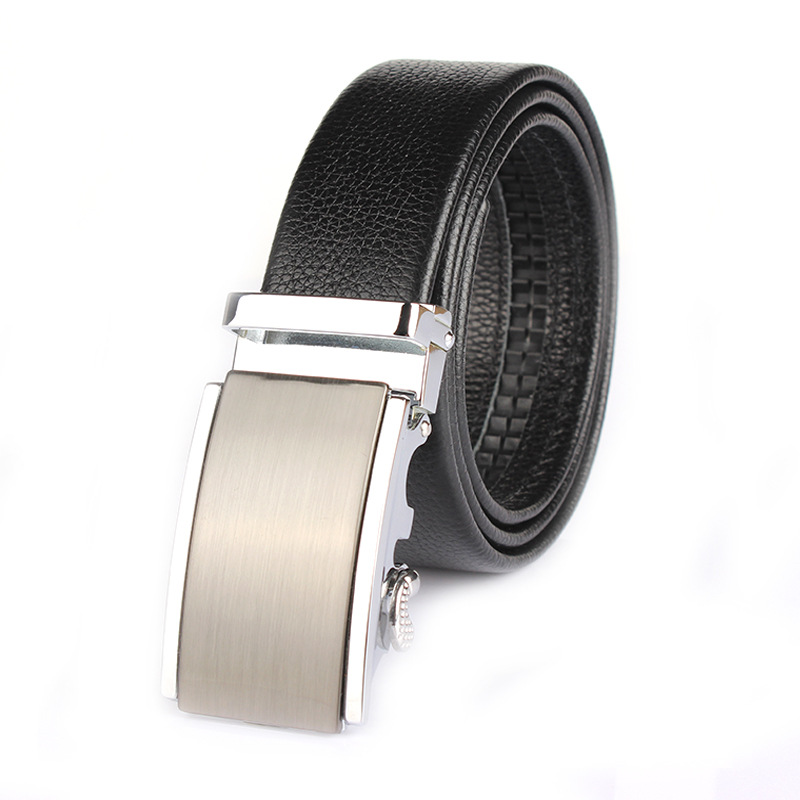 2015 New Time-limited Unisex Adult Solid Belts For Automatic Buckle Double Head Cowhide Layer Lengthened Business Casual Belt