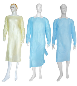 disposable isolation gown disposable patient nurse doctor long sleeves gown