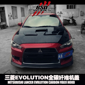 Carbon Fiber Bonnet For 08-15 Mitsubishi Lancer Evo 10/ Evo 10 X Bs ...