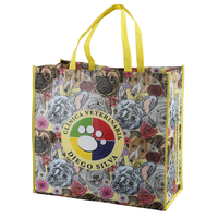 Full color Flower lamination printed non woven polypropylene shopping bag for promotion