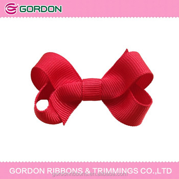 2017 ponytail red ribbon bow wholesale lovely baby boutique red hair