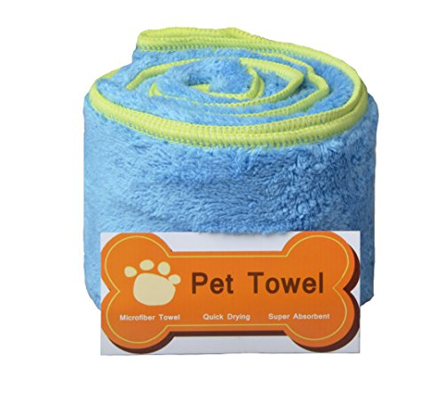 |Sunland Ultra Absorbent Microfiber Pet Towel with Embroidered Paw print