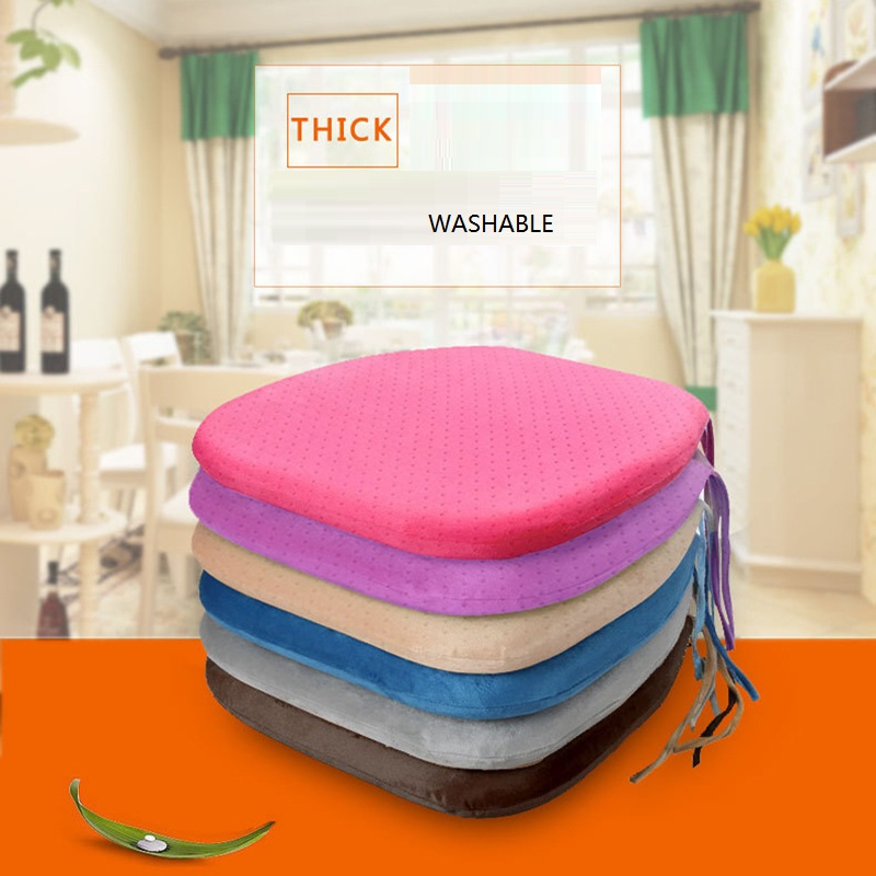wholesale velvet fabric polyethylene memory foam office Chair seat sitting pillow cushion pad