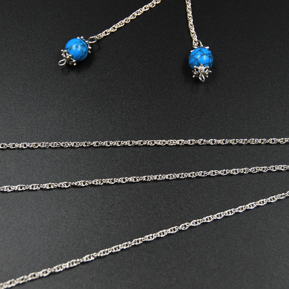 Thin metal chain for jewelry making