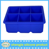 FDA approval promotional christmas custom silicone ice cube tray, private labeling ice cube trays