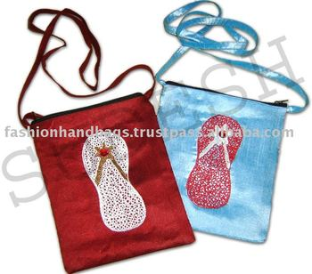 silk patchwork bags,thai silk bag