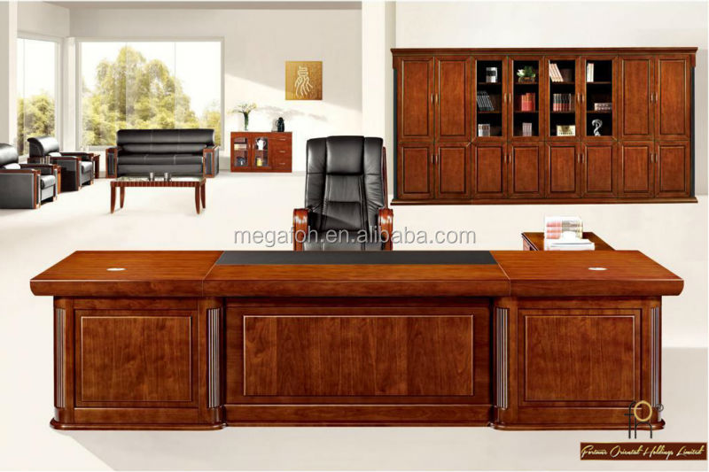 Elegant boss desk modern office workstation luxury office for Html table class