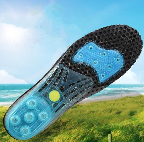 Strong plastic arch support hi-poly sport insole excellent shock absorption EVA foam insole