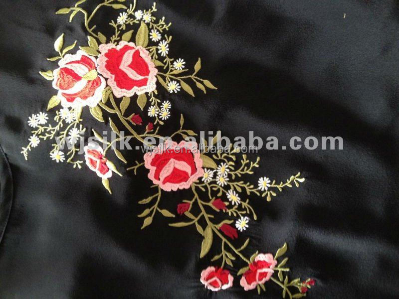 Silk Embroidery fabrics customized in all kinds of designs