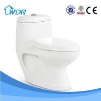 Ceramic Wc Bathroom Commode One-piece Toilet W9027A