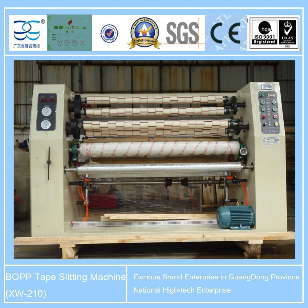 XW-210 BOPP adhesive tape Jumbo roll slitter machine