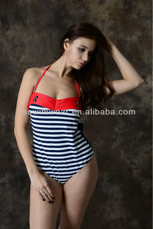 Top sale!Fashion hot swimwear with navy strip