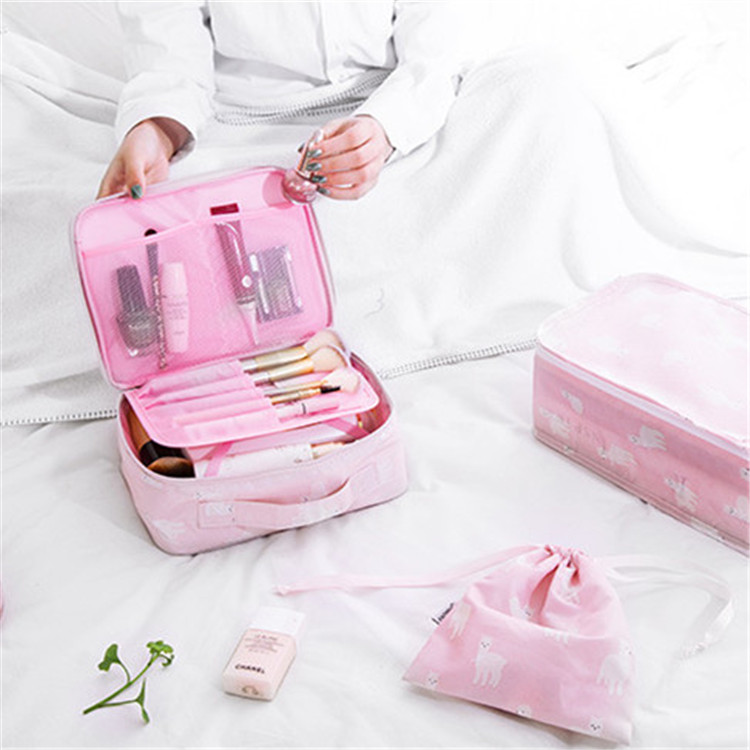 2019 Multifuction travel cosmetic bag women toiletries organizer makeup bags waterproof female storage make up cases