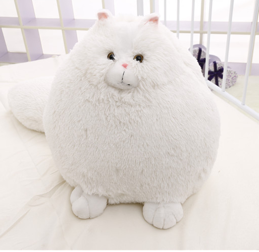 Wholesale Cute Stuffed Soft Cat Toys Long-tail White Emulate Persia Cat Toys