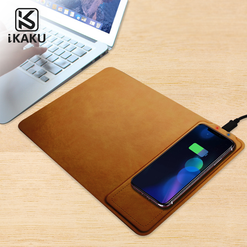 OEM fantasy 10 w universal kompatibel Kulit cepat qi wireless pengisian charger mouse pad untuk Apple iPhone