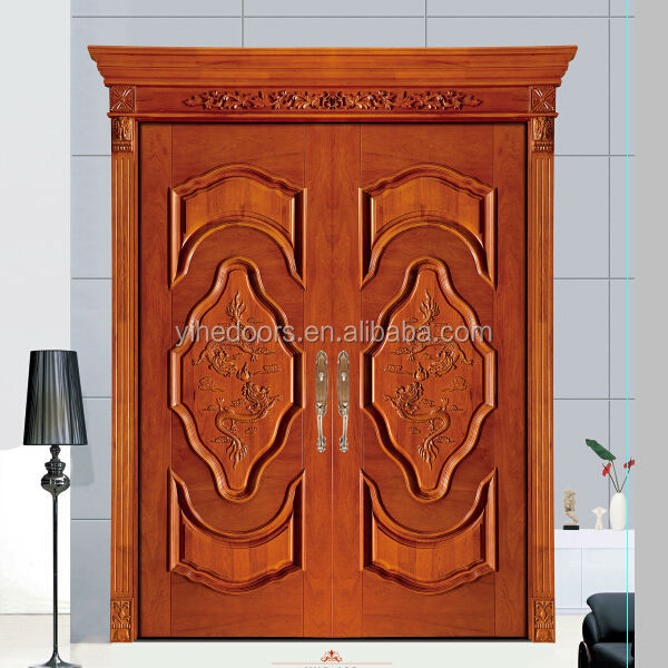 Foshan main door wood carving design /stylish new designs interior ...