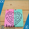 cheap custom heart design couple phone case,hard tpu pc super thin mobile phone case for iphone6