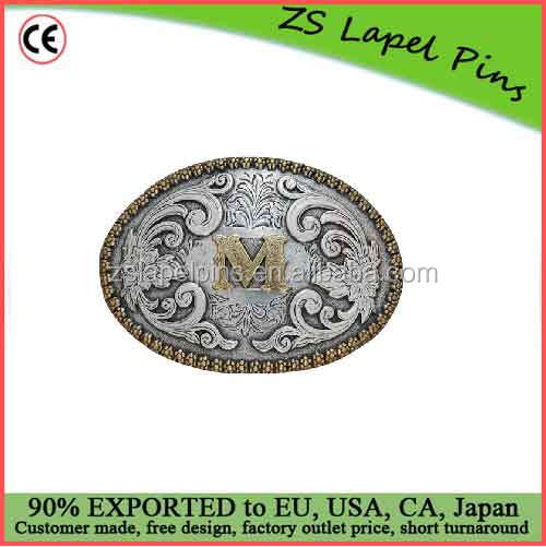 Custom design and logo Oval Initial Buckle