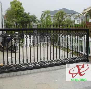 galvanized automatic iron sliding gate  doors