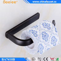 Beelee Black Oil Rubbed Bronze Half Open Toilet Roll Paper Rail Holder Brass Toilet Tissue Holder Toilet paper Holder