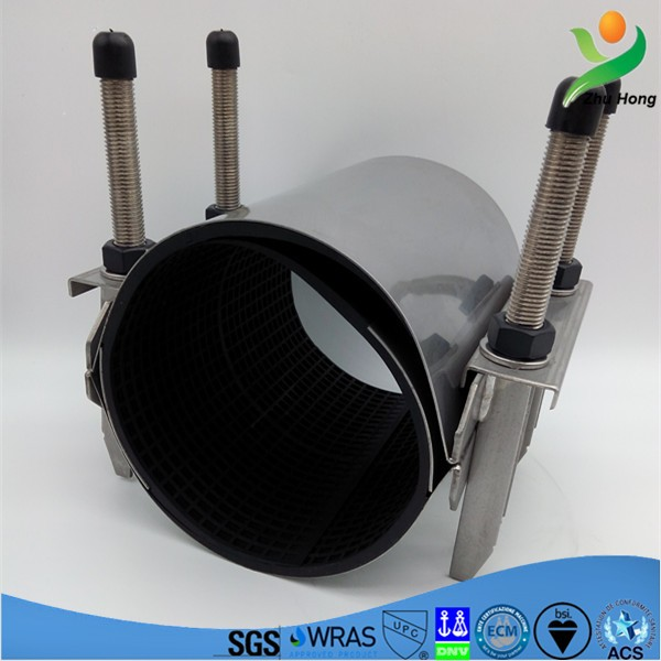 CR-2 300mm galvanized pipe out repair clamp/pvc pipe joints/water supply pipeline quick repairing low price coupling