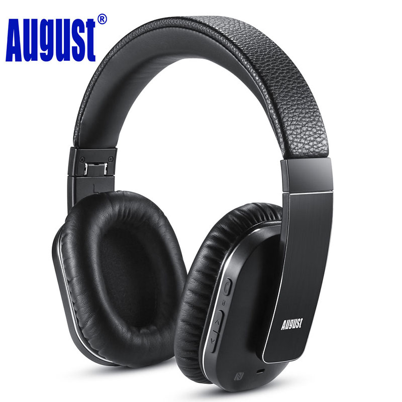 August EP750 Active Noise Cancelling Wireless Bluetooth Headphones Headset