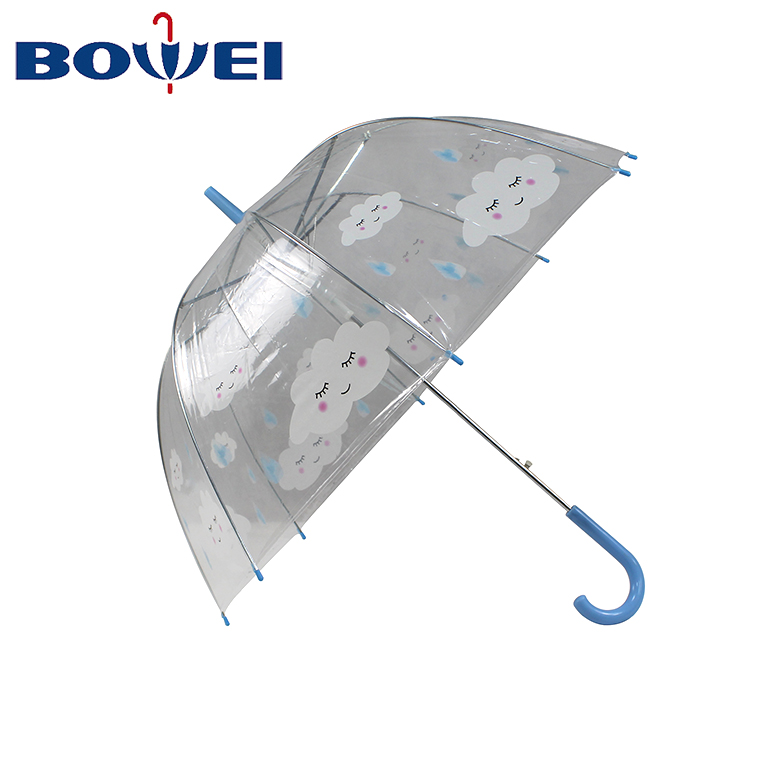 Promotional Straight  Custom Poe Transparent  Automatic Dome Bubble Umbrella Manufacturer China