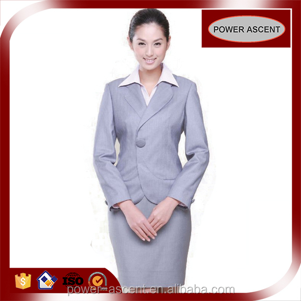2016 Hot Sale Office Uniform 2 Pieces Ladies Factory Uniforms