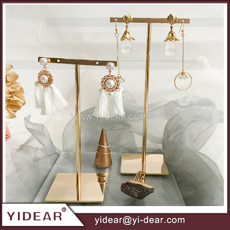 Multi function retro gold jewelry display rack for earring bracelet necklace <strong>show</strong>