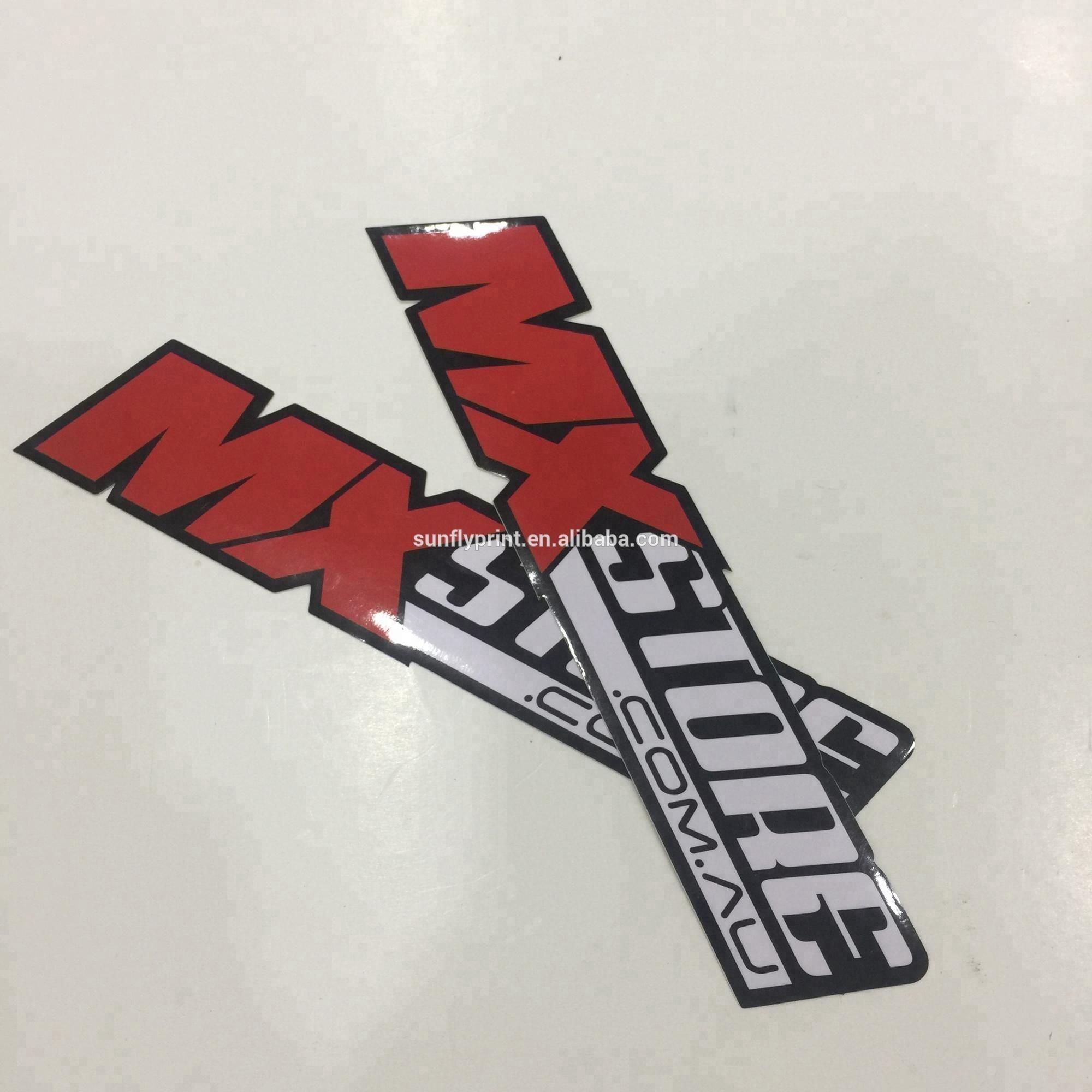 Promotional custom printed waterproof vinyl die cut sticker for decoration