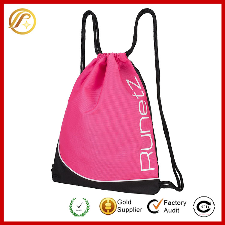 Factory Wholesale Fashion Sports Gym Sackpack Drawstring Bag With Good Quality