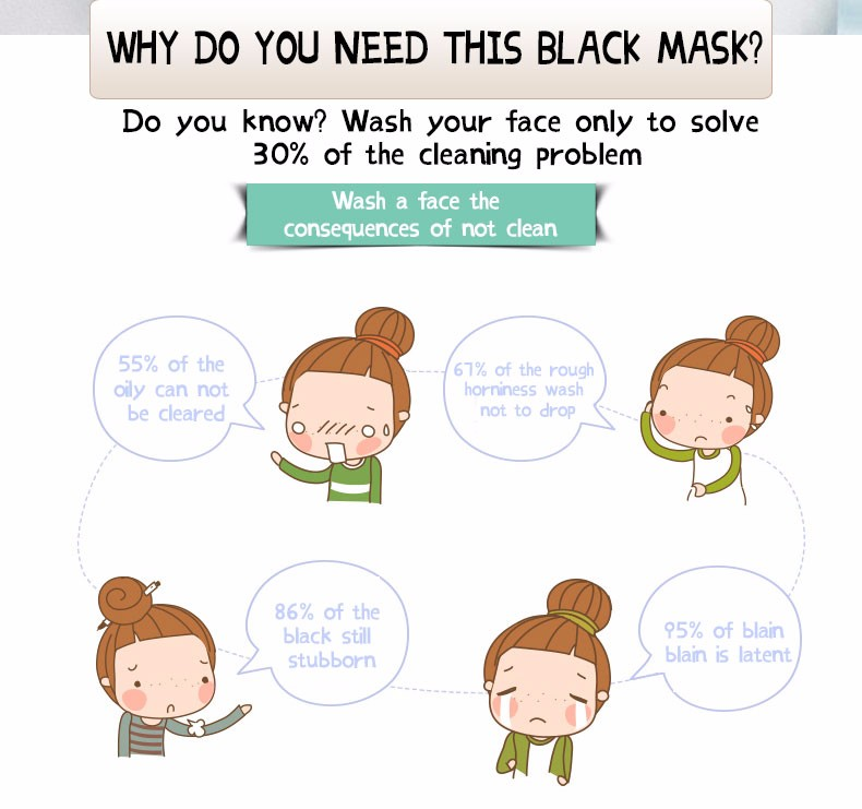 Popular Factory Price Mineral Mud face Blackhead Remover Cleans peeling off Mask Pore Cleanser Black Head Pore Strip mask