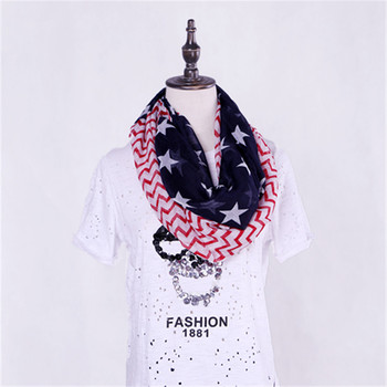fashion 2017 star print stars summer country usa american flag scarf