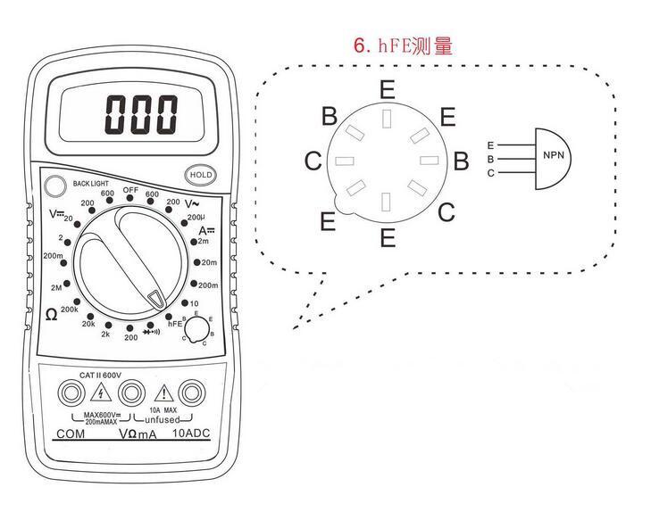 Xl 830l Digital Multimeter Voltmeter Ohmmeter Ammeter Ohm Voltage