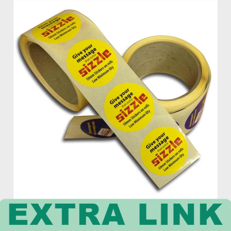 Extra Link Promotional sticker label custom roll security sticker vinyl sticker
