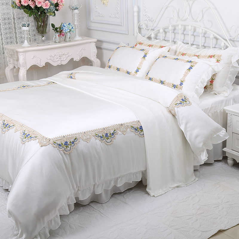 Beautydream silk four sets of Princess silk embroidery silk bedding 100% silk 4 sets of silk