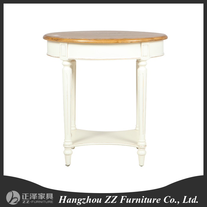 Shabby Chic Round Wood Coffee Table: French Style Round Shabby Chic Coffee Table,Furniture