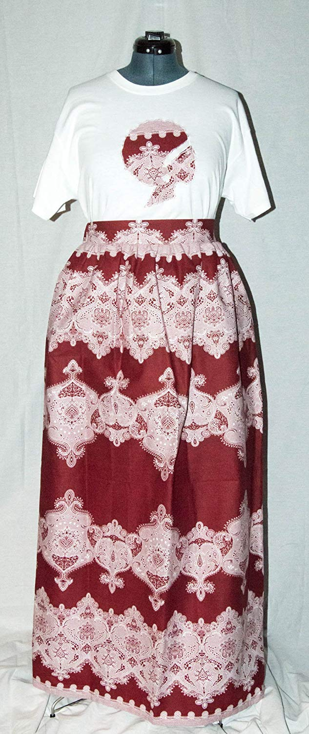 2e9f4914e9 Get Quotations · Sacred Acts US Women's African Print Maxi Skirt with Large  Tshirt