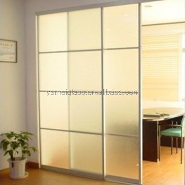 casa de diseo de vidrio esmerilado puerta corredera