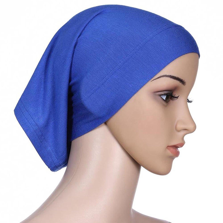 6a6474f113d Get Quotations · Gotoole Muslim Under Scarf Cap Hijab Islamic Head Wear Cap  Bone Bonnet Head Wrap