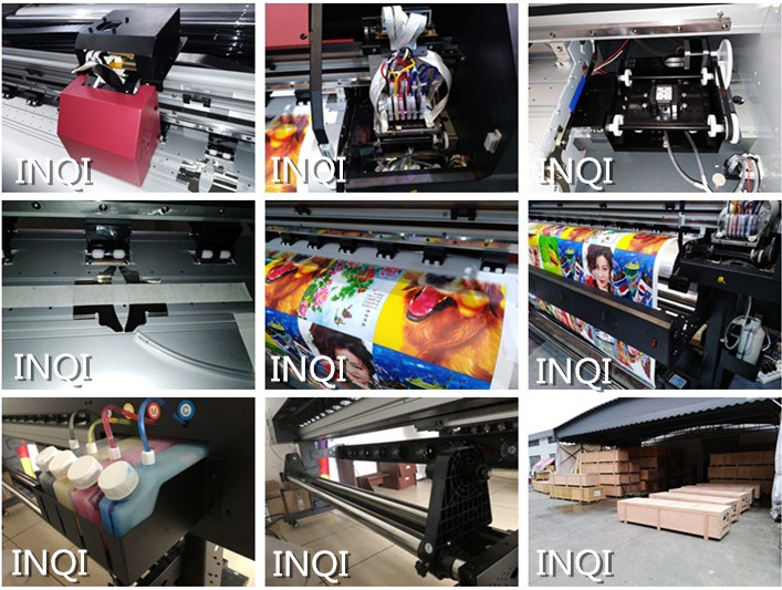 INQI 1.6m 1.8m XP600 eco solvent printer optional one head or two head