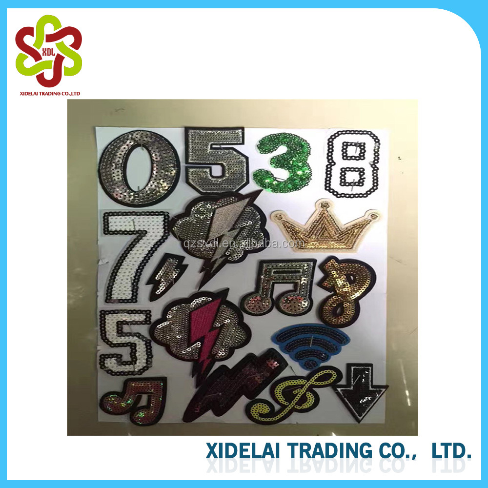 26 English Letters Patches Embroidered Patch School Uniform Number  Stitching Iron On DIY Stickers for Clothes