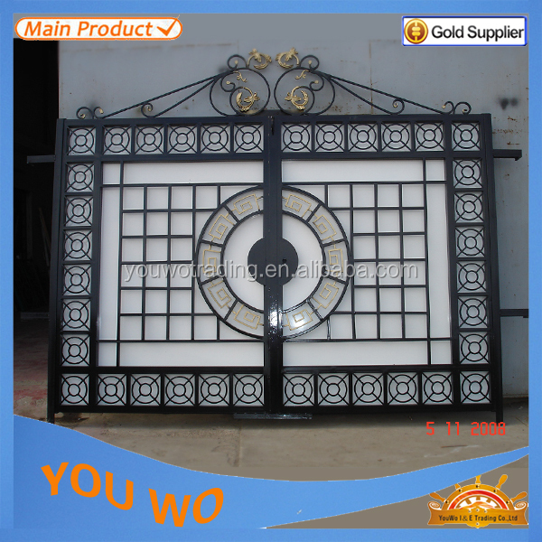 Beautiful residential wrought iron gate designs models Home get design