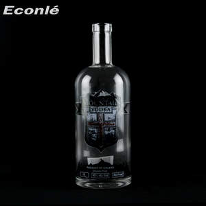 Wholesale cheap unique shaped clear 750ml bulk empty wine bottles