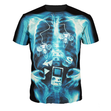 Wholesale Custom Digital print Short Sleeve Xray Scan Humorous Unique Graphic T shirts