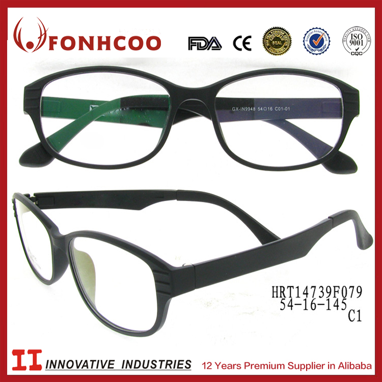FONHCOO Goods Best Sellers Big Black Temple Imitate Tr90 Reading Glasses
