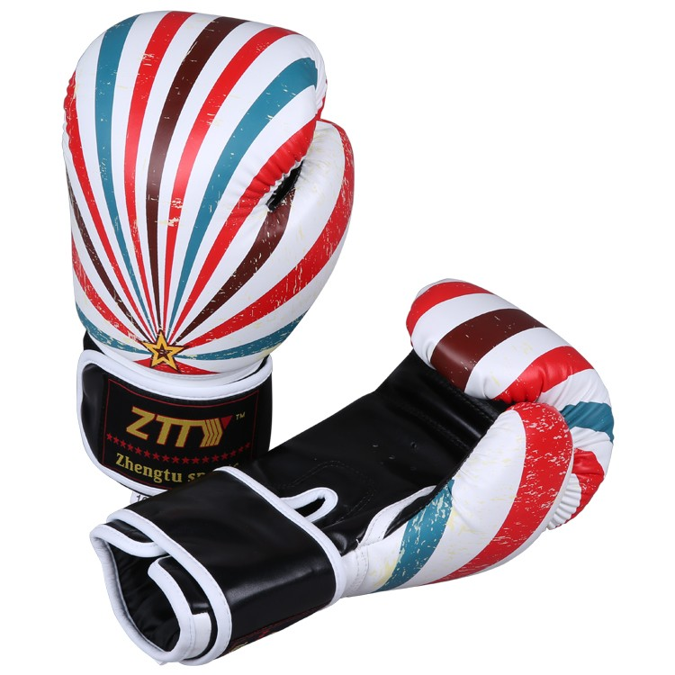 new products for 2016 Wholesale custom logo prints PU leather training kickboxing boxing gloves