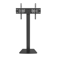 32-65 inch Outdoor Height Adjustable Metal Rotating floor cart LED TV mount Stand For Home With Wheels