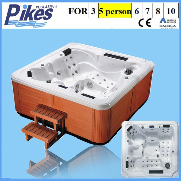 Unforgettable outdoor air jet massage outdoor square spa hot tub